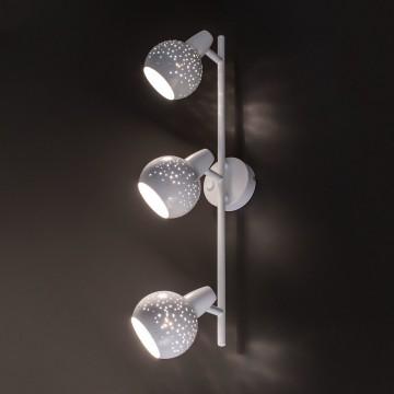 Настенный светильник с регулировкой направления света Citilux Деко CL504530, 3xE14x60W, белый, металл - миниатюра 3