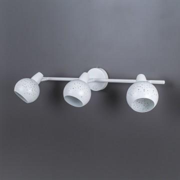 Настенный светильник с регулировкой направления света Citilux Деко CL504530, 3xE14x60W, белый, металл - миниатюра 8