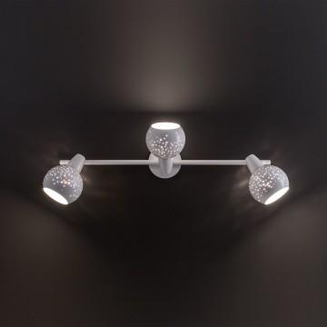 Настенный светильник с регулировкой направления света Citilux Деко CL504530, 3xE14x60W, белый, металл - миниатюра 9