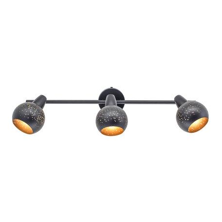 Настенный светильник с регулировкой направления света Citilux Деко CL504532, 3xE14x60W, черный, металл