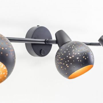 Настенный светильник с регулировкой направления света Citilux Деко CL504532, 3xE14x60W, черный, металл - миниатюра 10