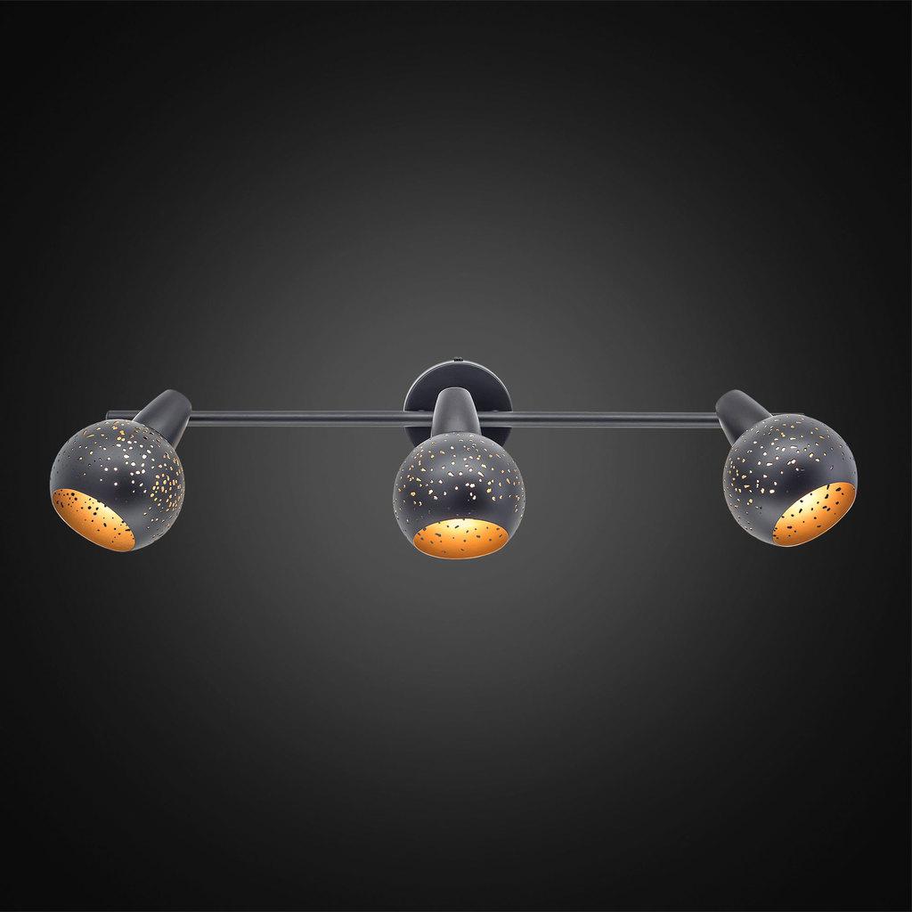 Настенный светильник с регулировкой направления света Citilux Деко CL504532, 3xE14x60W, черный, металл - фото 2
