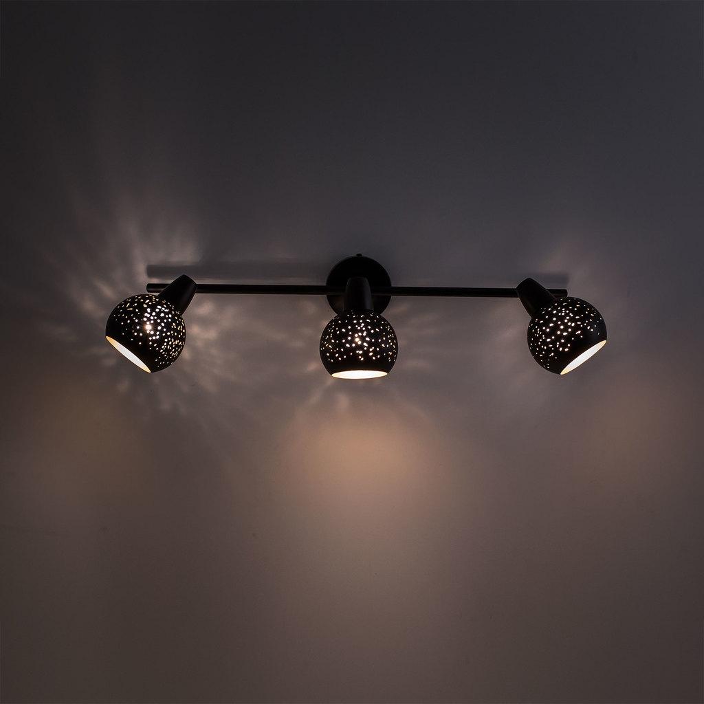 Настенный светильник с регулировкой направления света Citilux Деко CL504532, 3xE14x60W, черный, металл - фото 5