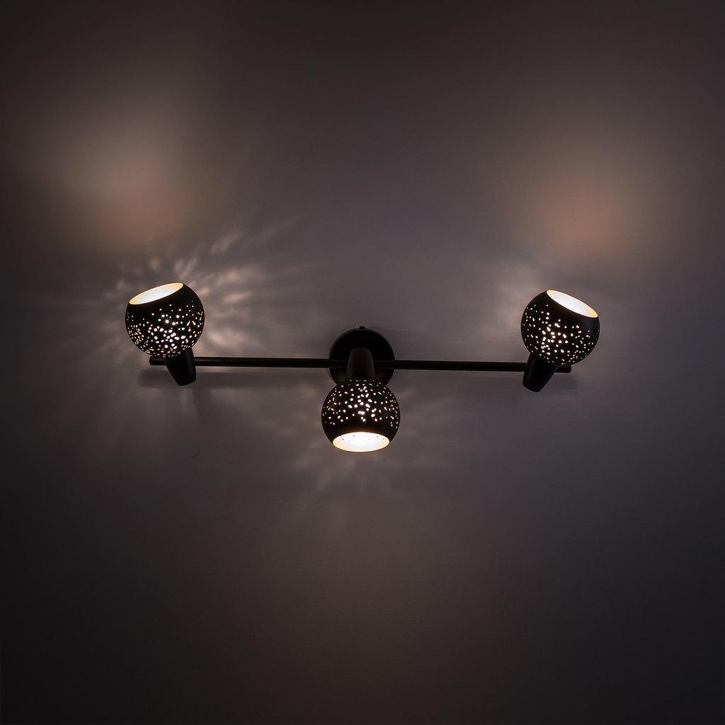 Настенный светильник с регулировкой направления света Citilux Деко CL504532, 3xE14x60W, черный, металл - фото 6