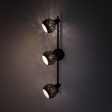 Настенный светильник с регулировкой направления света Citilux Деко CL504532, 3xE14x60W, черный, металл - миниатюра 7