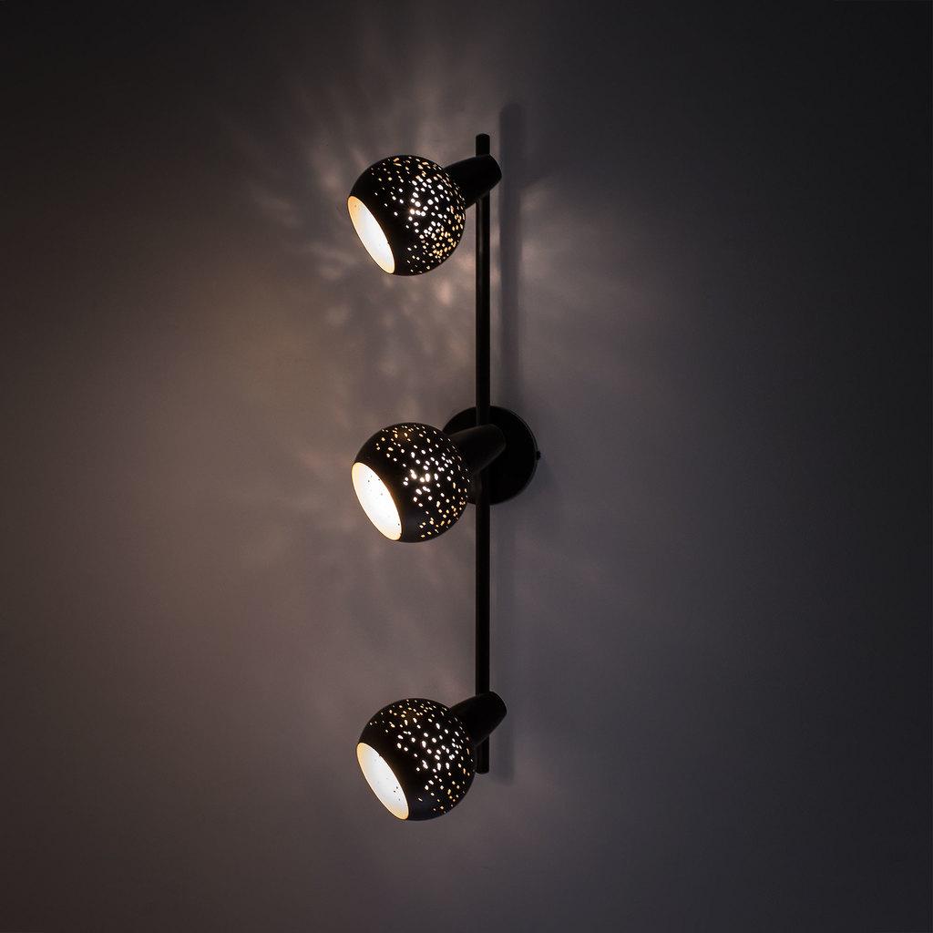 Настенный светильник с регулировкой направления света Citilux Деко CL504532, 3xE14x60W, черный, металл - фото 7