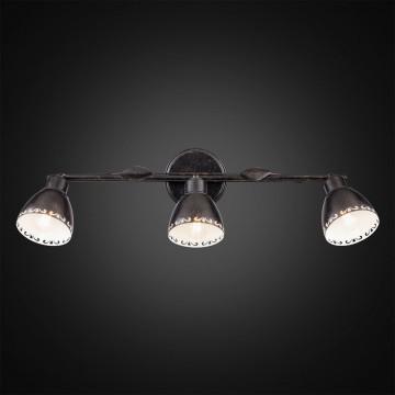 Настенный светильник с регулировкой направления света Citilux Робуста CL509532, 3xE14x60W, коричневый с золотой патиной, металл - миниатюра 2