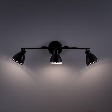 Настенный светильник с регулировкой направления света Citilux Робуста CL509532, 3xE14x60W, коричневый с золотой патиной, металл - миниатюра 6