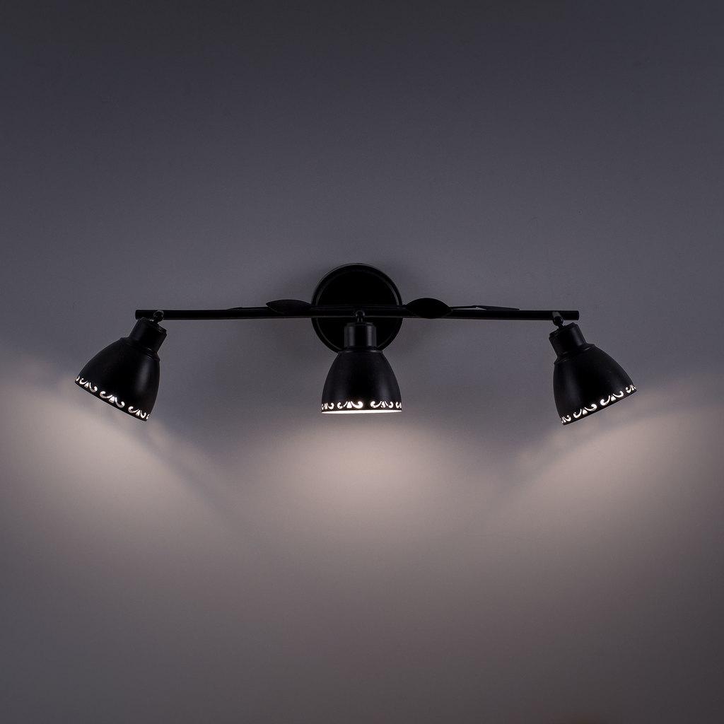 Настенный светильник с регулировкой направления света Citilux Робуста CL509532, 3xE14x60W, коричневый с золотой патиной, металл - фото 6