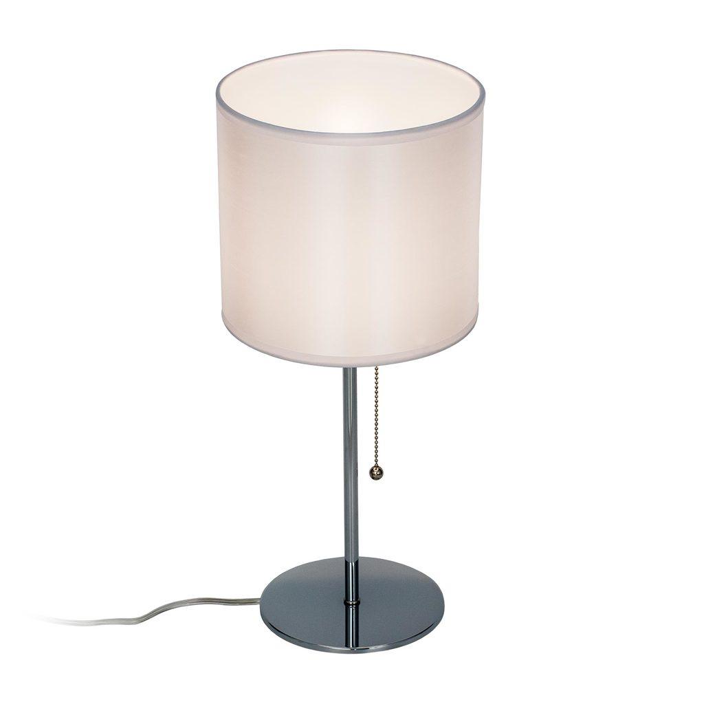 Настольная лампа Citilux Аврора CL463810, 1xE27x75W, хром, белый, металл, текстиль - фото 1