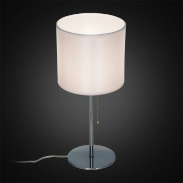 Настольная лампа Citilux Аврора CL463810, 1xE27x75W, хром, белый, металл, текстиль - миниатюра 2