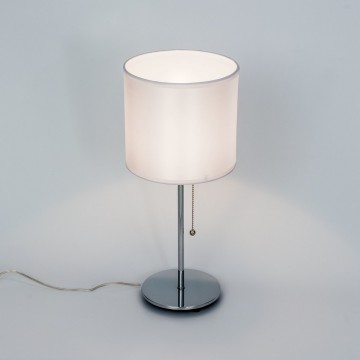 Настольная лампа Citilux Аврора CL463810, 1xE27x75W, хром, белый, металл, текстиль - миниатюра 3