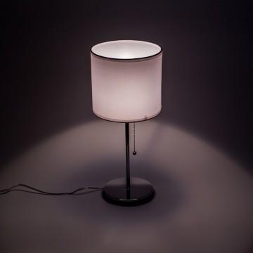 Настольная лампа Citilux Аврора CL463810, 1xE27x75W, хром, белый, металл, текстиль - миниатюра 4