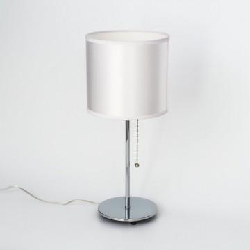 Настольная лампа Citilux Аврора CL463810, 1xE27x75W, хром, белый, металл, текстиль - миниатюра 5