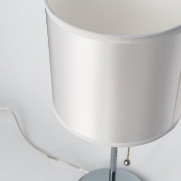Настольная лампа Citilux Аврора CL463810, 1xE27x75W, хром, белый, металл, текстиль - миниатюра 6