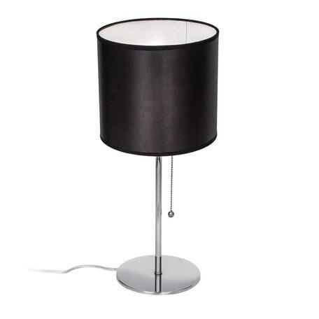 Настольная лампа Citilux Аврора CL463811, 1xE27x75W, хром, черный, металл, текстиль