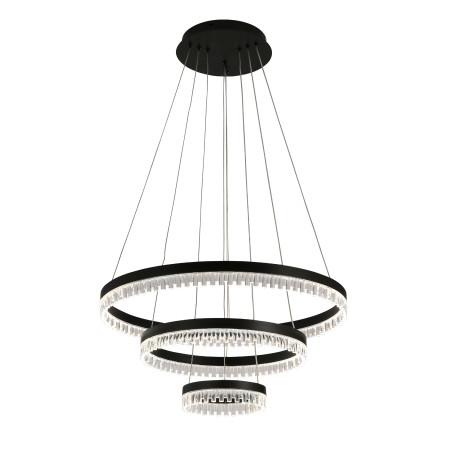 Подвесной светодиодный светильник ST Luce Silita SL1603.403.03, LED 72W 4460lm, черный, металл, металл с пластиком