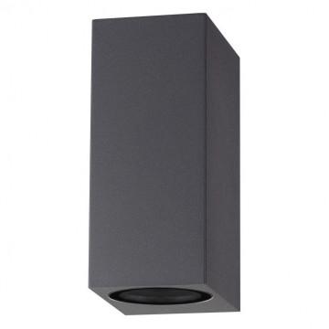 Настенный светильник Novotech Landscape 370600, IP54, 2xGU10x50W, серый, металл