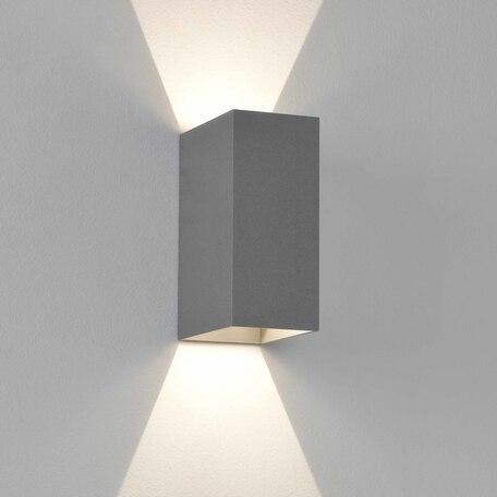 Настенный светодиодный светильник Astro Oslo 1298021 (8193), IP65, LED 6W 3000K 99lm CRI90, серый, металл