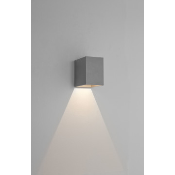 Настенный светодиодный светильник Astro Oslo 1298022 (8194), IP65, LED 3,8W 3000K 47.08lm CRI80, серый, металл, стекло