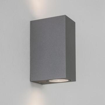 Настенный светильник Astro Chios 1310008 (8196), IP44, 2xGU10x6W, прозрачный, серый, металл, стекло