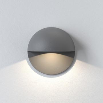 Встраиваемый настенный светодиодный светильник Astro Tivola 1338009 (8201), IP65, LED 2W 3000K 82lm CRI80, серый, металл