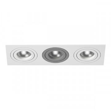 Встраиваемый светильник Lightstar Intero 16 i536060906, 3xGU10x50W, серый, металл