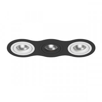 Встраиваемый светильник Lightstar Intero 16 i637600706, 3xGU10x50W, черный, черно-белый, металл