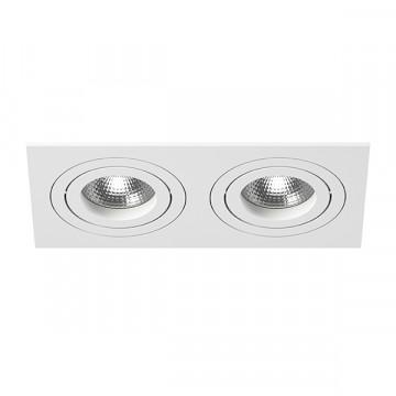 Встраиваемый светильник Lightstar Intero 16 i5260606, 2xGU10x50W, белый, металл