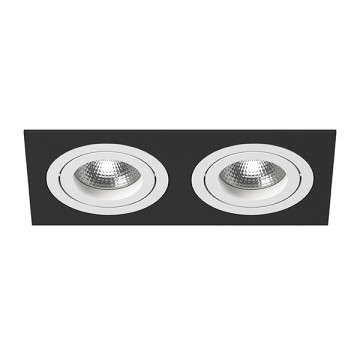 Встраиваемый светильник Lightstar Intero 16 i5270606, 2xGU10x50W, черный, черно-белый, металл