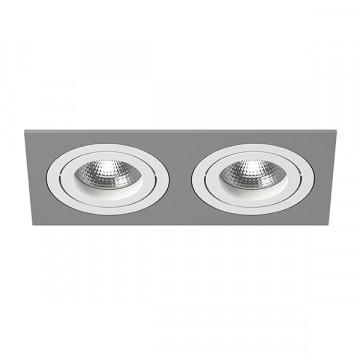 Встраиваемый светильник Lightstar Intero 16 i5290606, 2xGU10x50W, серый, металл
