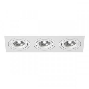 Встраиваемый светильник Lightstar Intero 16 i536060606, 3xGU10x50W, белый, металл