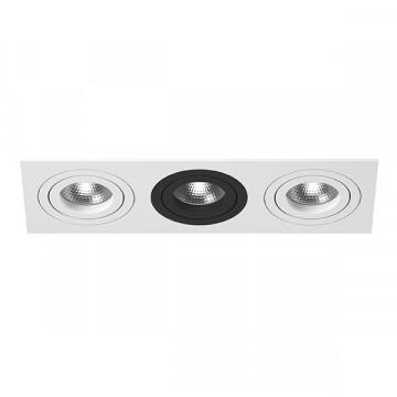 Встраиваемый светильник Lightstar Intero 16 i536060706, 3xGU10x50W, черный, черно-белый, металл