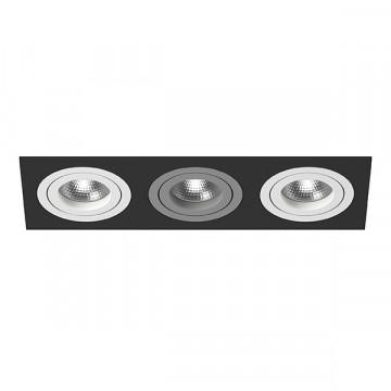 Встраиваемый светильник Lightstar Intero 16 i537060906, 3xGU10x50W, черный, металл