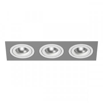 Встраиваемый светильник Lightstar Intero 16 i539060606, 3xGU10x50W, серый, металл