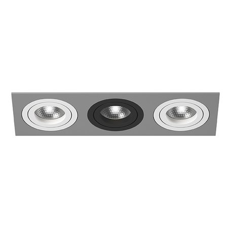 Встраиваемый светильник Lightstar Intero 16 i539060706, 3xGU10x50W, серый, черный, металл