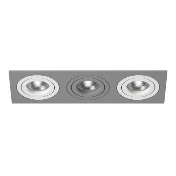 Встраиваемый светильник Lightstar Intero 16 i539060906, 3xGU10x50W, серый, металл