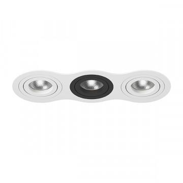 Встраиваемый светильник Lightstar Intero 16 i636060706, 3xGU10x50W, черный, черно-белый, металл