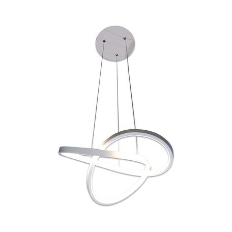 Подвесной светодиодный светильник Kink Light Бейли 08638, LED 34W 4000K 2380lm CRI>80, белый, металл, металл с пластиком
