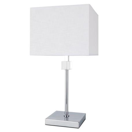 Настольная лампа Arte Lamp North A5896LT-1CC, 1xE27x60W, хром, белый, металл со стеклом, текстиль