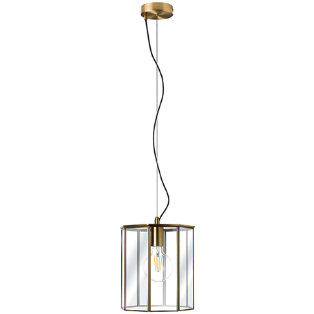 Подвесной светильник Lightstar Genni 798111, 1xE27x40W, матовое золото, прозрачный, металл, стекло