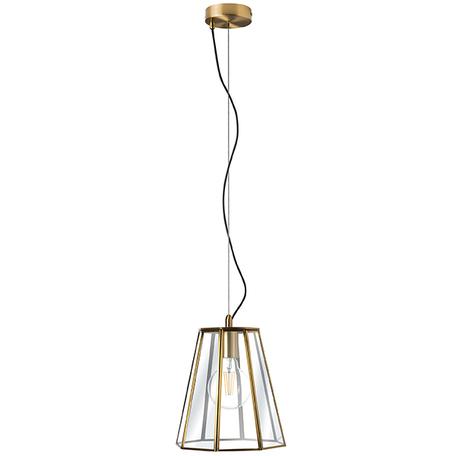 Подвесной светильник Lightstar Genni 798121, 1xE27x40W, матовое золото, прозрачный, металл, стекло