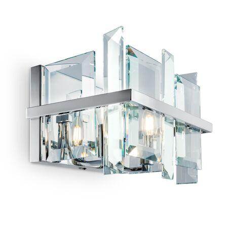 Бра Maytoni Cerezo MOD201WL-02N, 2xE14x40W, хром, прозрачный, металл, хрусталь