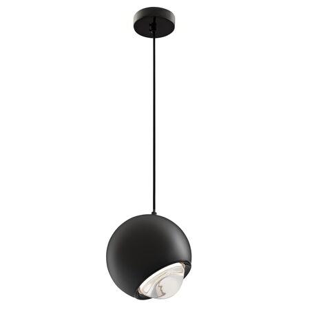 Подвесной светодиодный светильник Maytoni Akis P065PL-L7B3K, LED 7W 3000K 400lm CRI80, черный, металл, пластик
