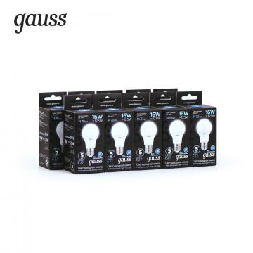 Светодиодная лампа Gauss 102502216 груша E27 16W, 4100K (холодный) CRI>90 150-265V, гарантия 5 лет - миниатюра 3