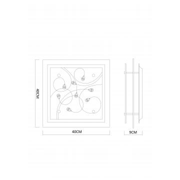 Схема с размерами Arte Lamp A4058PL-3CC