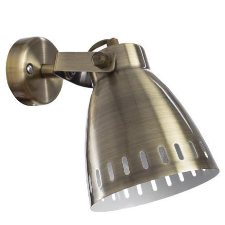 Настенный светильник с регулировкой направления света Arte Lamp Luned A2214AP-1AB, 1xE27x40W, бронза, металл