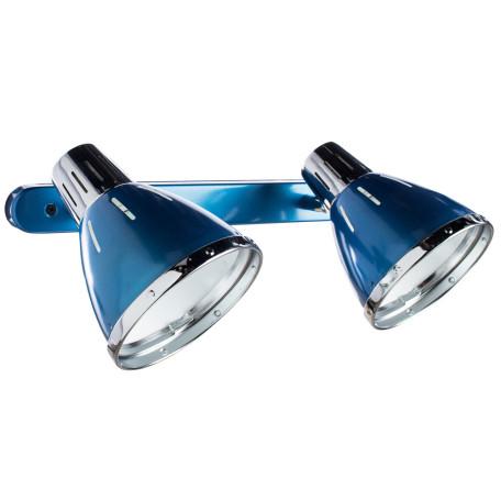 Настенный светильник с регулировкой направления света Arte Lamp Marted A2215AP-2BL, 2xE27x40W, синий, металл