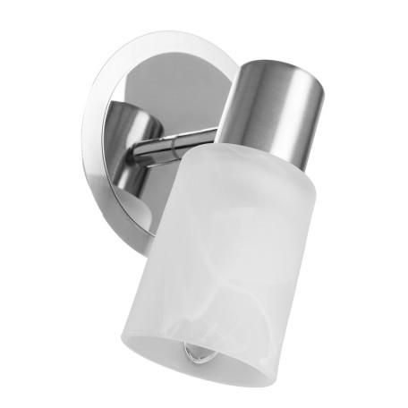 Настенный светильник с регулировкой направления света Arte Lamp Cavalletta A4510AP-1SS, 1xE14x40W, хром, белый, металл, стекло
