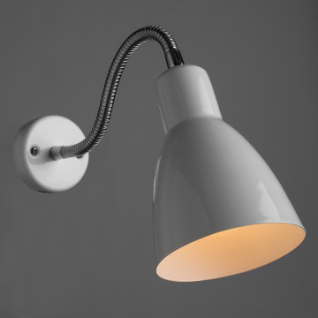 Настенный светильник Arte Lamp MercoLED A5048AP-1WH, 1xE27x40W, белый, хром, металл - миниатюра 2